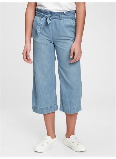 Gap Wide-Leg Crop Jean Pantolon Mavi